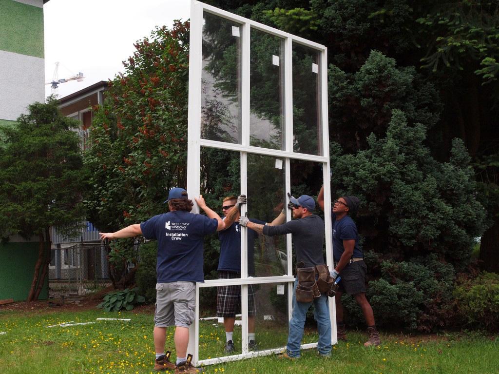Window Installation - Oversized windows - West Coast Windows Vancouver BC